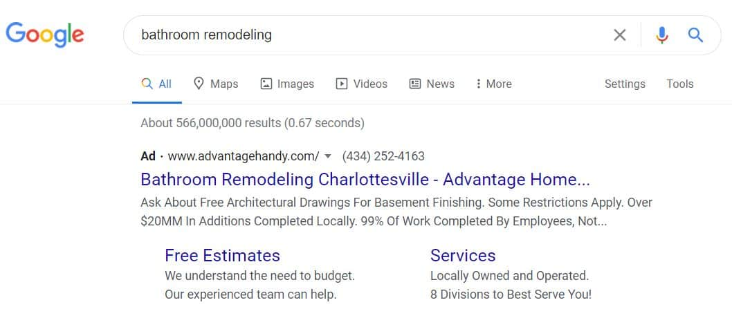 Advantage Paid Search Ads Case Study Charlottesville